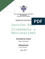 Ciudadanía y Nacionalidad
