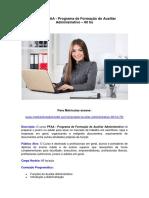 PFAA - Auxiliar Administrativo