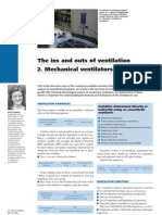 The Ins and Outs of Ventilation 2. Mechanical Ventilators