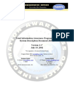 The Total Information Awareness (TIA) System Description