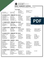 February 24, 2018 Yahrzeit List
