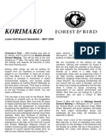May 2009 Korimako, Royal Forest and Bird Protecton Society Newsletter
