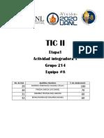 actividad integradora 1 TIC II