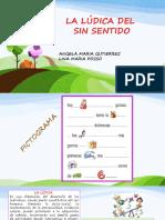 Diapositivas La Lúdica Del Sinsentido
