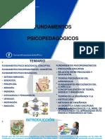 FUNDAMENTOS PSICOPEDAGÓGICOS