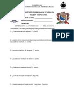 Examen 1 Español