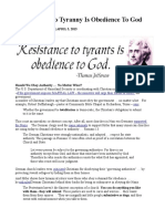 Resistance to Tyranny is Obedience to God