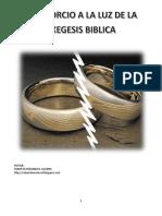Εl Divorcio a La Luz de La Exegesis Biblica
