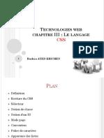 B.technologies Web Chapitre 3 (CSS)