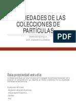 Propiedades de Las Colecciones de Partículas Distribución de Tamaño de Partícula