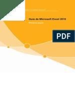 Primero pasos Excel 2016