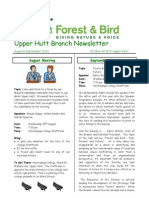 August - September 2010 Upprer Hutt, Royal Forest and Bird Protecton Society Newsletter