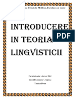 Introducere in Teoria Lingvisticii