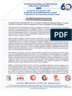 Acuerdo de la Junta Directiva Nacional de ANEP de cara a la segunda ronda electoral