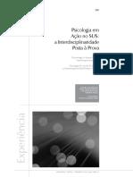 Psicologia em ação no SUS interdisciplinariradde posta à toda prova.pdf
