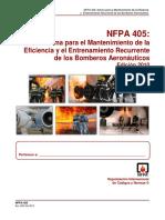 NFPA 405 (2010) Entrenamiento Recurrente Para ARFF (2)Bomberos