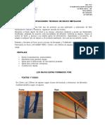 ESPECIFICACIONES TECNICAS DE RACKS METALICOS.doc