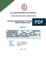 HIDROLOGICO PARA CARRETERAS TOCCTO-CONDORCCOCHA AYACUCHO