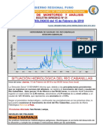 Boletin Siredeci Hidrologico 01 2018 Coer Rio Cabanillas