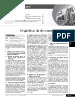 Exigibilidad Documentos Laborales