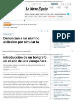 Denuncian a Un Alumno Avilesino Por Simular La Introducción de Un Bolígrafo en El Ano de Una Compañera - La Nueva España - Diario Independiente de Asturias