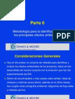METODOLOGÍA DE IDENTIFICACIÓN DE LOS PRINCIPIOS EFECTOS AMBIENTALES