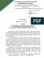 Scan Surat Edaran Gubernur Terkait HPSN 2018