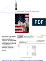 Watchtower Investments In Armament Companies