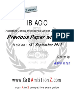 IB ACIO Previous Paper 2013