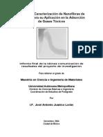 Sintesis de Nanofibras de Carbono y Su Aplicacion en La Adsorción de Gases Tóxicos