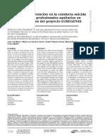11. Modelos de Intervención en La Conducta Suicida Según Diferentes Profesionales Sanitarios en España - Resultados Del Proyecto Euregenas, España 2014