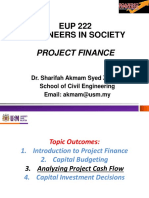 2017 2018 Eup 222 Sem 1 Project Finance Topic Outcome 1