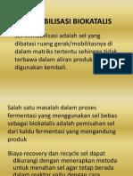 Topik 10 Immobilisasi Biokatalis