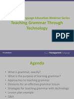 Teach grammar through technology