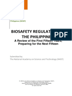 Biosafety Regulation in the Philippines