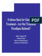 Evidence Basis for Glaucoma Treatment - Are Our Treatment Paradigms Rational
