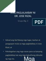 Ang Paglalakbay Ni Rizal