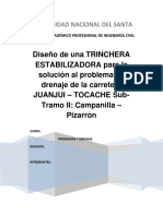 Diseño de La Trinchera Estabilizadora Para La Carretera Juanjui