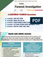 Audit Lanjutan Fraud and Forensic Investigation