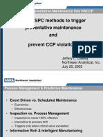 IFT2005-Using SPC Methods to Trigger Preventative Maintenance