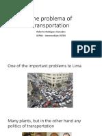 The Problema of Transportation - Roberto Rodriguez