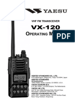 Yaesu VX-120 Oprating Manual