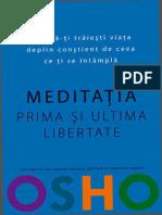 Osho - Meditatia. Prima Si Ultima Libertate