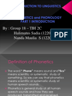 Phonetics and Phonology Grup 18