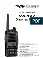 Yaesu VX-127 Operating Manual