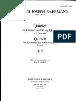 Baermann Quinteto Clarinet Solo