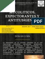 Mucolíticos, Expectorantes y Antitusígenos