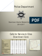 Downtown Alcohol-Related Incidents