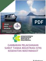 Fit III Iakmi - Gambaran Pelaksanaan Surat Tanda Registrasi Str Kesehatan Masyarakat