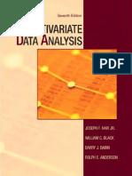 Multivariate Data Analysis by Joseph Hair